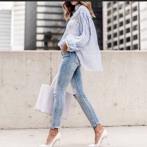 Free People headed to the highlands flowy blouse